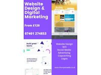 **Offers** Pro Website Design | From £120 with Hosting | SEO | Logo | Marketing | Copywriting