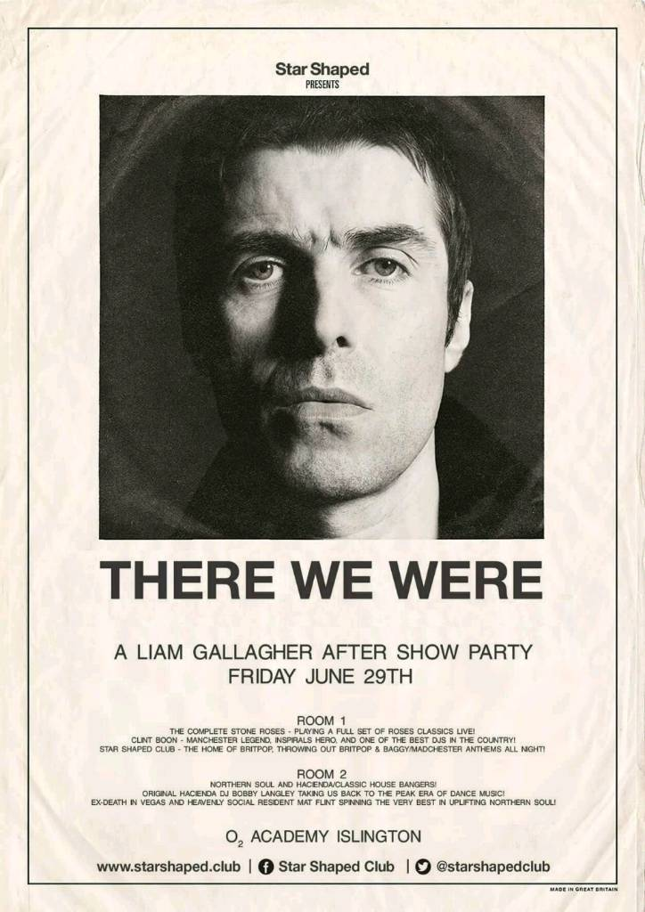 8d5a70f9185 Liam Gallagher after party Finsbury park THERE WE WERE 3 tickets ...