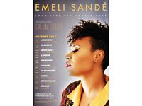 Emeli Sande x 2 lower tire block 102 Row S Manchestet arena 22nd October 07393471927