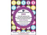 Bingo at Tewkesbury School