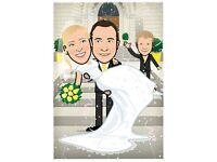 Wedding Portrait - Illustration - Cartoon - Illustrator