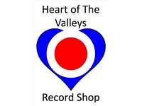 HEART OF THE VALLEYS RECORD STORE - BLACKWOOD INDOOR MARKET NP12 1AZ, 6 DAYS A WEEK 9-5.