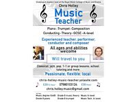 Piano teacher – Professional, friendly and experienced – Will travel to you – All ages and abilities