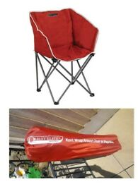 QUEST ELITE DELUXE RANGE. KENT WRAP AROUND CHAIR IN PAPRIKA. BRAND NEW WITH BAG