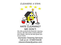 Reliable, professional and Insured Cleaners