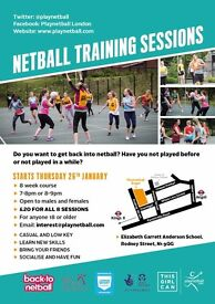 Get Back Into Netball - Sessions Starting Soon
