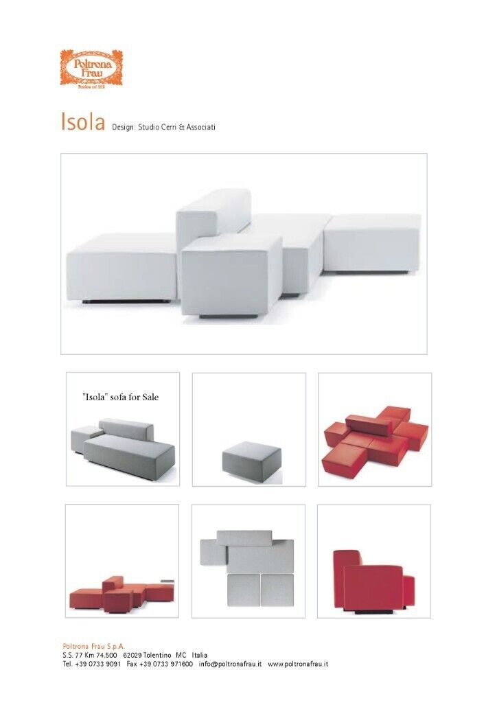 Isola Poltrona Frau.Designer Sofa Poltrona Frau Isola Design Studio Cerri Associati In Putney London Gumtree