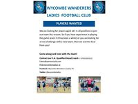 WYCOMBE WANDERERS LADIES FC **PLAYERS WANTED**
