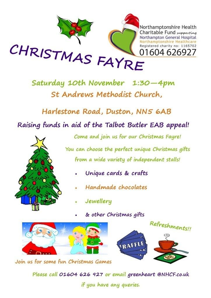 Charity Christmas Fayre with raffle, games, refreshments & unique ...