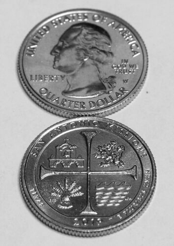 (1) 2019 W San Antonio National Park quarter from new bank roll