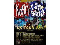 2 x Korn & Limp bizkit Plus special guests tickets