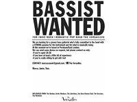 BASSIST WANTED FOR INDIE ROCK / ROMANTIC POP BAND