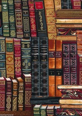 Timeless Treasures   Books Library Metallic Gild  100  Cotton Quilt Fabric Bty