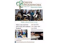 Make a Rustic Stool Workshop with Green Woodwork Ireland, Minnowburn, Belfast