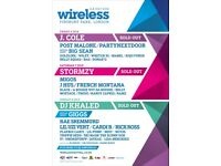 Wireless festival tickets - 2- Sunday 8tg July
