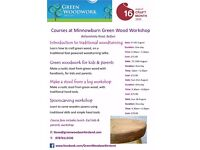 Woodwork courses at Minnowburn Green wood workshop, with Green Woodwork Ireland