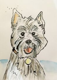 personalised paintings of pet or other subject