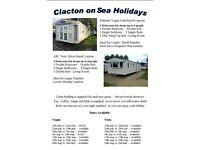 Holiday Caravan - Highfields - Clacton on Sea - 2 Caravans to choose from