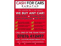 CARS/VANS BROUGHT FOR CASH***BOURNEMOUTH & SURROUNDING AREA***FRIENDLY RELIABLE SERVICE***TOP PRICES