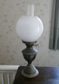 Vintage Twin Wick Oil Lamp