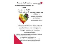 Male Participants Needed, aged 30-40, BMI>30