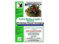 Christmas Flower Arranging Class in Abergavenny