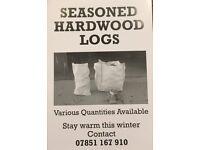 Hardwood and softwood logs