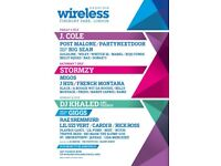 WIRELESS FESTIVAL SATURDAY AND SUNDAY TICKETS - £400