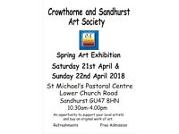 Crowthorne and Sandhurst Art Society Spring Exhibition- 21st and 22nd April