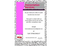 Transcription services cheap and fast!