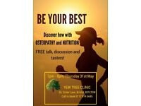 Free osteopathy and nutrition workshop