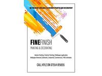 Fine finish painting and decorating services
