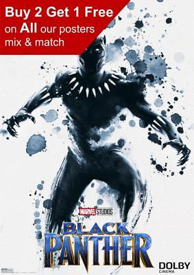 Marvel Black Panther Dolby Poster A5 A4 A3 A2 A1