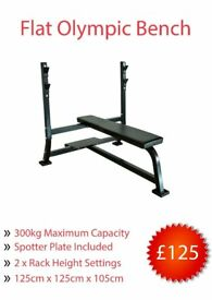 *NEW* Flat Olympic Weights Bench (gym)