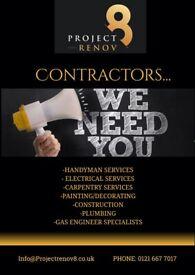 CONTRACTORS WE NEED YOU!