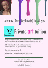 Private Art tuition-ideal-GCSE/A'Level-Newbies LEARN TO PAINT/DRAW!