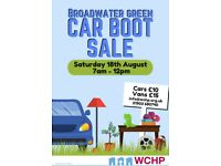 Worthing Car Boot sale in aid of WCHP Saturday 18th of August @ Broadwater green.