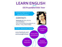 Learn English with Qualified Tutor/Teacher (CELTA, BA Hons) (TEFL)