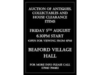 Antiques, collectables and house clearance auction Devon