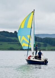 Symmetric Spinnaker and Pole for small yacht or dayboat
