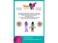 Troll Mascots for your child's party - keep the kids entertained with a visit from Poppy and Branch