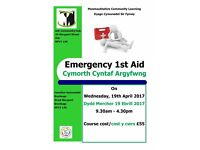 Emergency First Aid Course at Monmouth Community Hub on Thursday, 15th June 2017