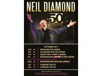 2 Neil Diamond Tickets 3 October Glasgow Hydro