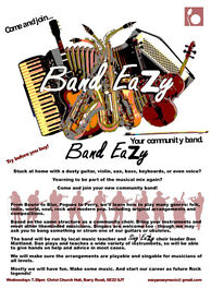 Weekly Community Band Se22. South East London. Sax, Guitar, Flutes, Violins, Voices, Bass, keys