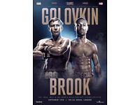 Kell Brook v Golovkin. O2 Arena September 10th 2016