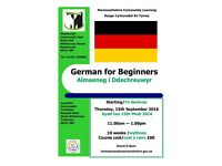 German for Beginners class starting at Monmouth Community Hub this September 2016