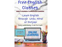 FREE ENGLISH CLASSES FOR PUNJABI, HINDI , URDU AND OTHER SOUTH ASIAN LANGUAGE SPEAKERS