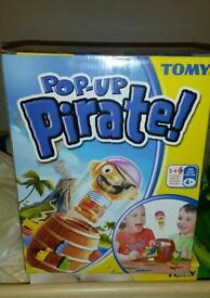 Pop up pirate games - almost new