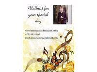 Versatile violinist available for weddings and other events