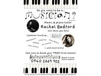 Piano lessons! Private music teacher, with young fun attitude, eager to share enthusiasm for music!